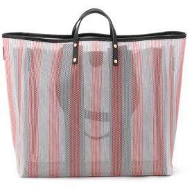 ikot 【ikot/イコット】【取り外し可】ニッティング バッグ(PVCバッグ付き) トートバッグ,レッド