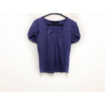 【中古】 マテリア MATERIA 半袖セーター サイズ38 M レディース 美品 パープル