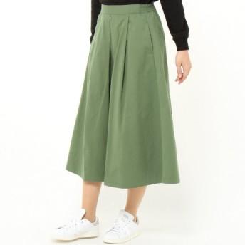 スカート レディース ロング ツイルフレアスカート 「ライトグリーン」