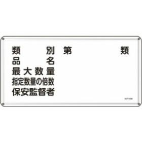 緑十字 KHY-16M 消防・危険物標識類別・品名・保安監督者300×600mmスチール 055116