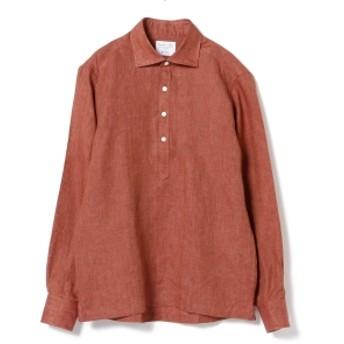 Brilla per il gusto / リネン プルオーバー カッタウェイ ワイドカラーシャツ メンズ カジュアルシャツ TERACOTTA/36 M