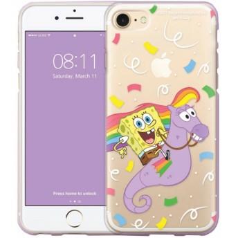 Sponge Bob スポンジボブ クリアー ゼリー ケース ♪ Galaxy S8/S8 Plus/S7 Edge 可愛い 透明 ソフト TPU スリム パトリック スポンジボブ プランクトン