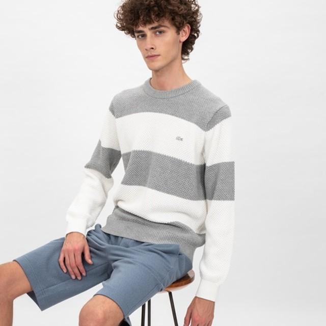 ミドルゲージボーダーニットセーター