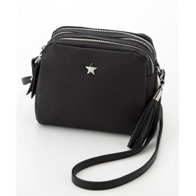 星モチーフ付3層ショルダーバッグ ショルダーバッグ・斜め掛けバッグ, Bags, 鞄