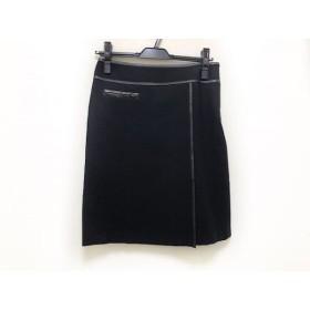 【中古】 ニジュウサンク 23区 スカート サイズ36 S レディース 黒