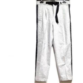 【中古】 ブラックレーベルクレストブリッジ パンツ サイズ76 メンズ 美品 グレー 黒 サイドライン