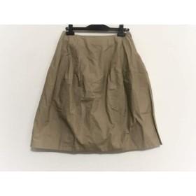 【中古】 レキップ ヨシエイナバ L'EQUIPE YOSHIE INABA スカート サイズ38 M レディース ベージュ