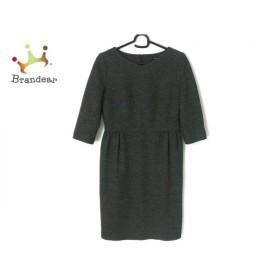 ストロベリーフィールズ STRAWBERRY-FIELDS ワンピース サイズ2 M レディース 黒×グレー     スペシャル特価 20190812