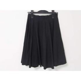 【中古】 ルシェルブルー LE CIEL BLEU スカート レディース 黒 プリーツ