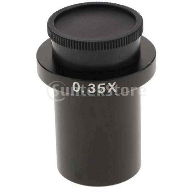 Perfeclan 0.35倍率 顕微鏡レンズアダプター CCDカメラレンズ Cマウントレンズアダプタ