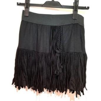 【中古】 ダイアグラム Diagram GRACE CONTINENTAL スカート サイズ36 S レディース 黒 フリンジ