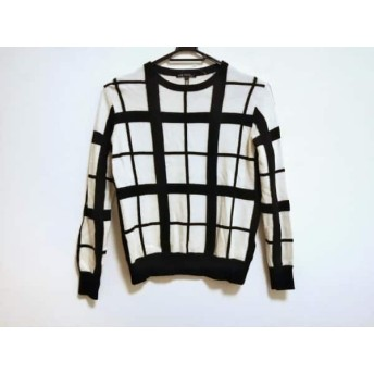 【中古】 ニジュウサンク 23区 長袖セーター サイズ32 XS レディース 白 黒