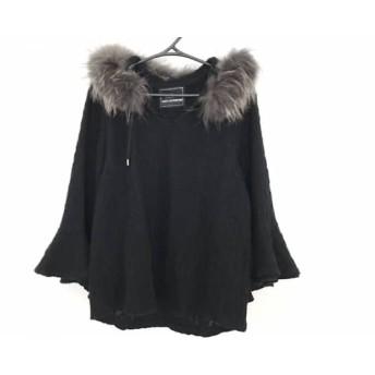 【中古】 グレースコンチネンタル 長袖セーター サイズ36 S レディース 美品 黒 ダークグレー ニット