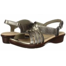 Clarks クラークス レディース 女性用 シューズ 靴 サンダル Loomis Cassey Pewter Metallic Leather【送料無料】
