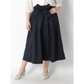 【大きいサイズレディース】【LL-6L展開】スキスカロングスカート スカート ロングスカート