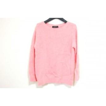 【中古】 ジャスグリッティー JUSGLITTY 長袖セーター サイズ2 M レディース ピンク ビジュー