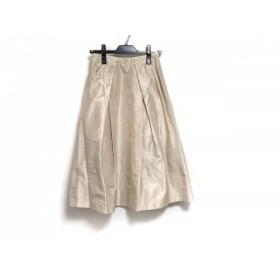 【中古】 ニジュウサンク 23区 スカート サイズ38 M レディース アイボリー シルク