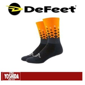 """【ネコポス対象商品】ディフィート(DeFeet) AI 6"""" <Rise (Charcoal/Hi-Vis Orange)> ソックス"""