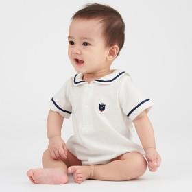 新生児 シンプルフリー セーラーロンパース 男児 ベビー・キッズウェア 新生児・乳児(50~80cm) カバーオール・ロンパース (184)