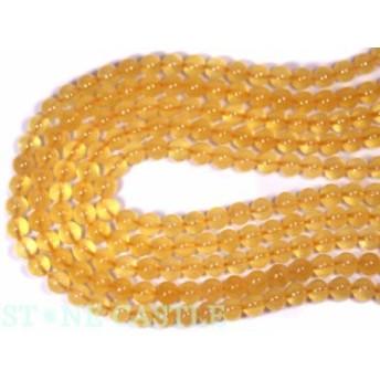 【天然石 丸ビーズ】オレンジカルサイト 8mm (半連 ブレスレット約1本分) パワーストーン