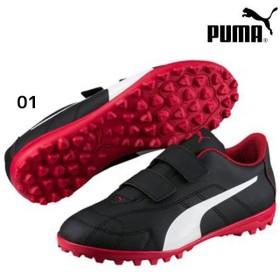 プーマ PUMA ジュニア C TT V J 104214-01 ジュニア サッカー トレーニングシューズ トレシュー ベルト ブラック 黒 特価 セール