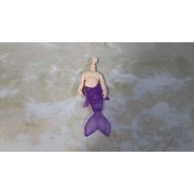 人魚素体 紫/ホワイティ オビツ11サイズ 透明