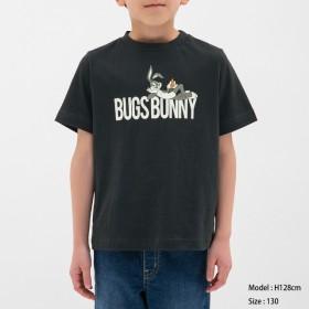 (GU)KIDS(男女兼用) Tシャツ(半袖)Looney Tunes NAVY 130