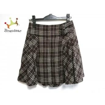 バーバリーブルーレーベル 巻きスカート サイズ36 S レディース チェック柄/プリーツ スペシャル特価 20190804