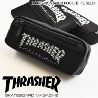 THRASHER スラッシャー ペンケース L サイズ SIZE ポーチ 工具入れ メンズ レディース 男女兼用 ユニセックス ブラック スケボー 7460490
