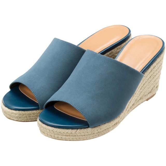 (GU)ジュートサボサンダル BLUE S