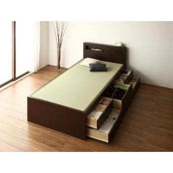 畳 収納 余凪 木製 国産 大容量 日本製 モダン 棚付き ベッド よなぎ 電源付き 畳ベッド 中国産畳 シングル お客様組立 収納ベッド