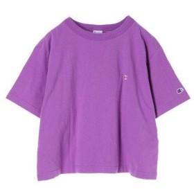 イーハイフンワールドギャラリー E hyphen world gallery Champion刺繍Tシャツ (Light Purple)