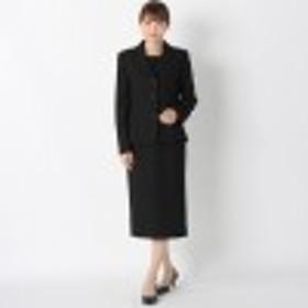 【喪服・礼服】ヘチマカラーブラックフォーマル2点セットスーツ