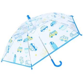 [40・45cm]ビニール傘 くるま ブルー シューズ・ファッション小物 レイングッズ 傘 (53)