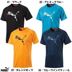 プーマ puma メンズ スポーツ Tシャツ LOGO SS TEE 吸水速乾 ロゴ シャツ 半袖 514548