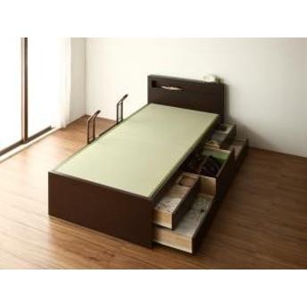 畳 収納 余凪 木製 国産 大容量 モダン 日本製 よなぎ 棚付き ベッド シングル 電源付き 畳ベッド 中国産畳 引出し付き 収納ベッド