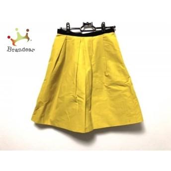 ピンキー&ダイアン Pinky&Dianne スカート サイズ38 M レディース 美品 イエロー×黒      値下げ 20200224