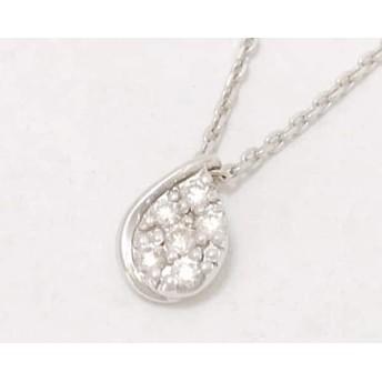 【中古】 スタージュエリー STAR JEWELRY ネックレス 美品 K10WG ダイヤモンド 0.06カラット/6Pダイヤ