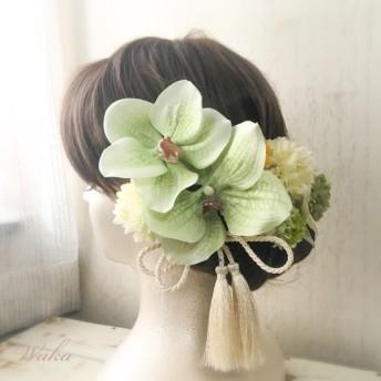 和装婚 白無垢 色打掛 結婚式 成人式 卒業式 着物 和装髪飾り wh-5