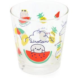 【オンワード】 Mother garden(マザーガーデン) しろたん タンブラーグラス コップ ガラス 容量330ml フルーツ柄 0 キッズ