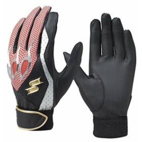 SSK (エスエスケイ) 野球 一般用シングルバンド手袋(両手) ブラック×レッド Lサイズ EBG5000W EBG5000W ブラック×レッド L