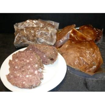 鹿肉のサラミソーセージとドミグラスハンバーグ