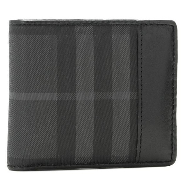 8bf0e7554b98 バーバリー/BURBERRY 財布 メンズ PVC 2つ折り財布 ブラックチェック 3546227-BCPV-0010C