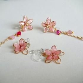 お花のノンホールピアス(2)