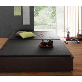 畳 収納 美草 日本製 花水木 すのこ 40mm厚 タタミ ワイド たたみ 畳ベット 畳ベッド 収納付き 小上がり シングル 引出し付き 500026724