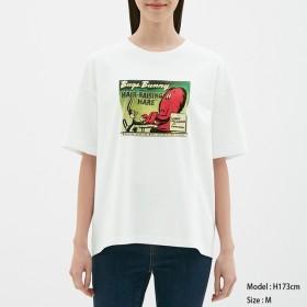 (GU)ビッグT(5分袖)Looney Tunes1 WHITE XL