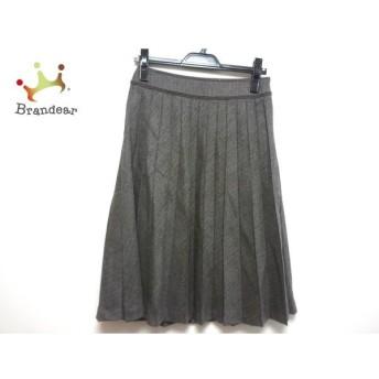 ニジュウサンク 23区 スカート サイズ38 M レディース ダークグレー×グレー スペシャル特価 20190731