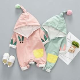 ベビー服 ロンパース カバーオール 新生児 赤ちゃん 帽子付き お出かけ  キッズ  誕生日