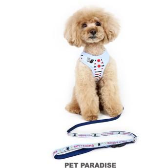 【オンワード】 PET PARADISE(ペットパラダイス) リサとガスパール ダンガリー リード付きハーネス ペットSS 水色 SS
