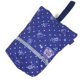 【オンワード】 Mother garden(マザーガーデン) マザーガーデン くまのロゼット キルトシューズバッグ上履き入れ 紺(ネイビー・インディゴ) 0 キッズ